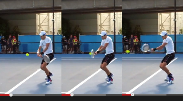 Djokovic hitting the 'bad' backhand