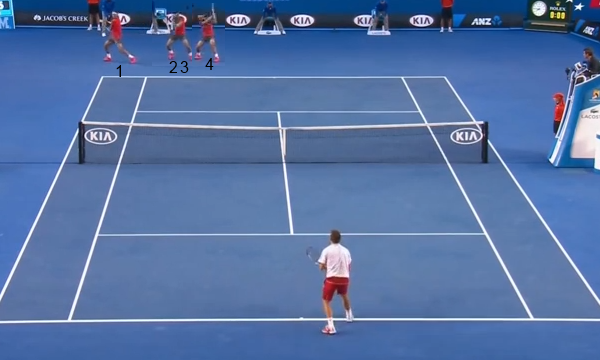 Wawrinka pinning Nadal into his backhand corner