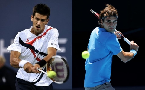 The backhands of Federer and Djokovic